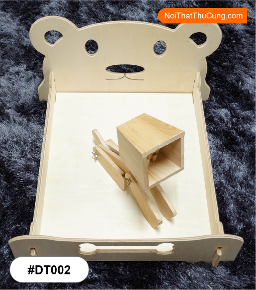 Giường gỗ cho chó mèo lắp ráp #DH012